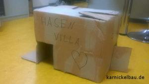 Kaninchenhaus-Karton