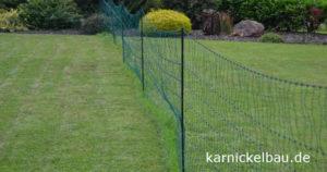 Kaninchennetz als Freilauf im Garten
