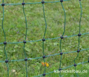 Kaninchenzaun in der Nahaufnahme